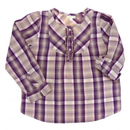 vertbaudet tunique à carreaux demi-saison fille vêtement occasion enfant