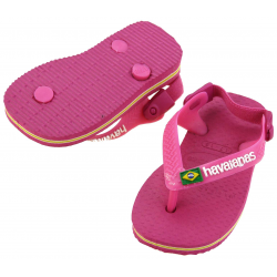 HAVAIANAS TONG BABY BRAZIL LOGO ORCHID / ROSE 17/18