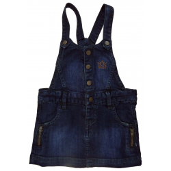creeks robe salopette jean fille 1 an